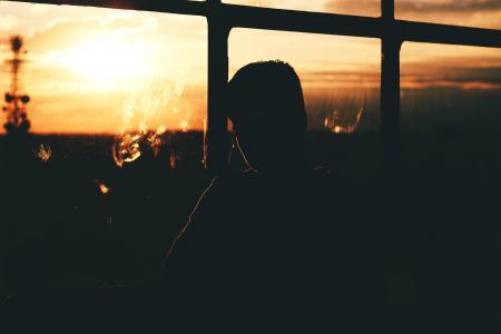 一个人心情失落的孤单背