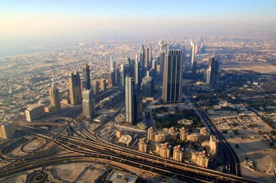 俯瞰迪拜独特建筑