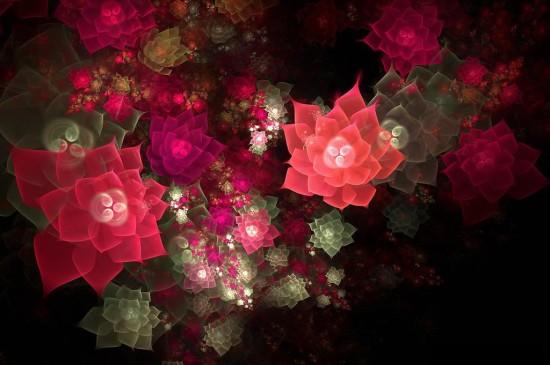 梦幻抽象花朵