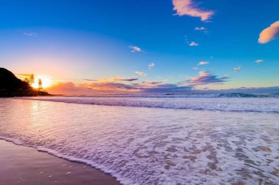 海滩唯美意境
