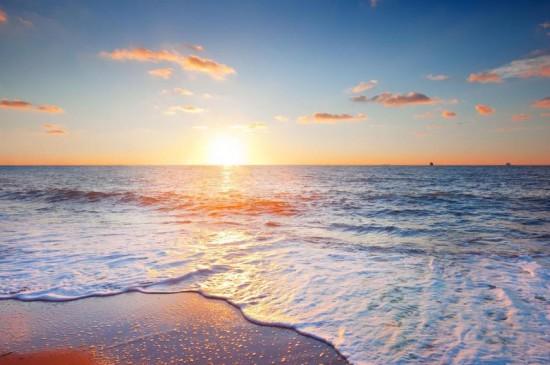 win7海滩日落风光