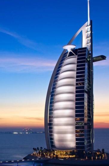 迪拜旅游夜景