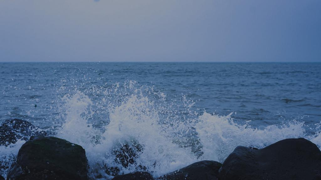 大海优美迷人风光