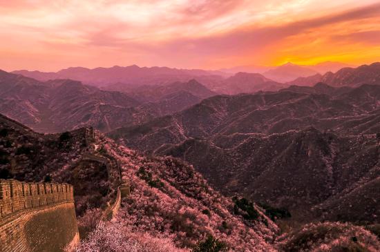 长城的日落美景