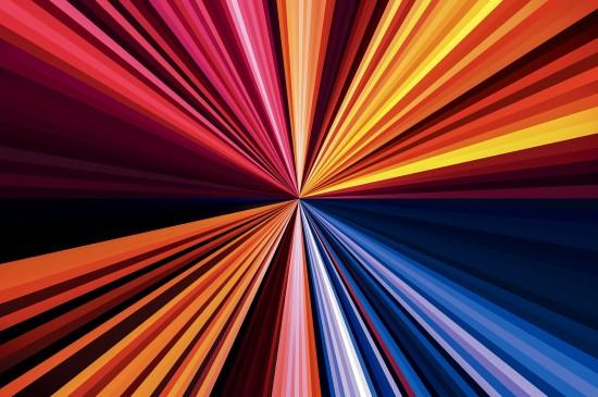 创意彩色辐射线条背景