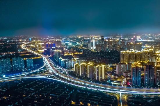 璀璨绚烂的城市夜景