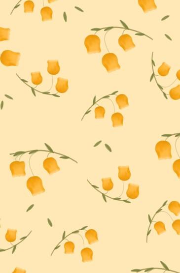 手绘简约小花背景图
