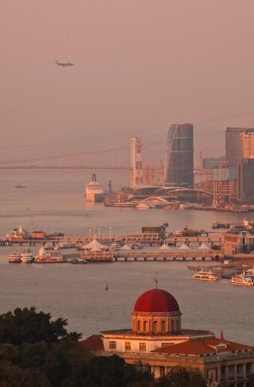 海岛厦门的日落风光