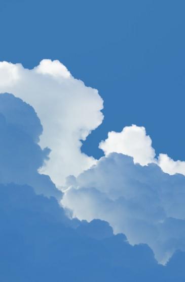 蓝天白云的治愈风光