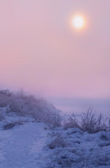 雾凇岛朦胧迷人风光