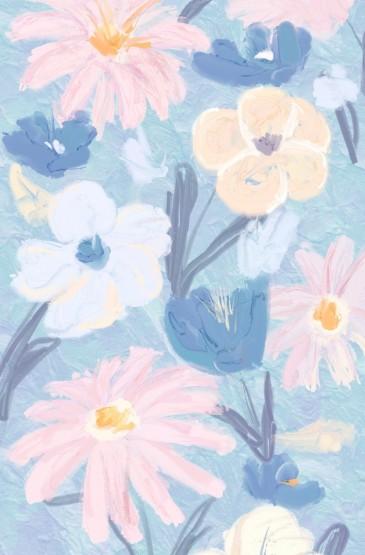 小清新春天花朵手绘