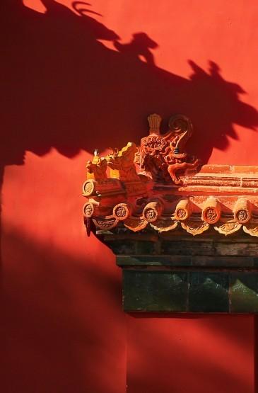 故宫大气红墙风光