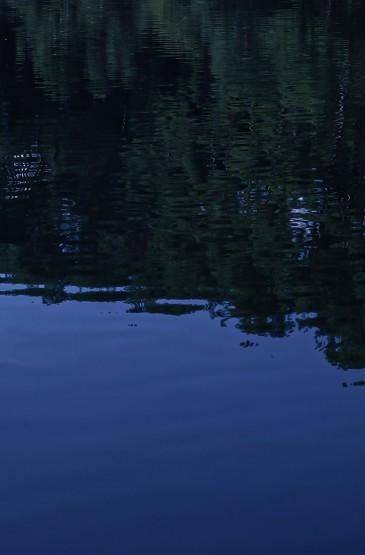 平静湖面的倒影