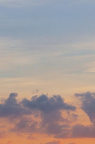黄昏下的云彩风光