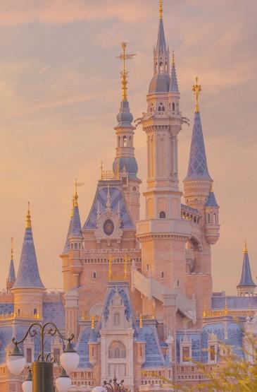 梦幻漂亮的迪士尼风光