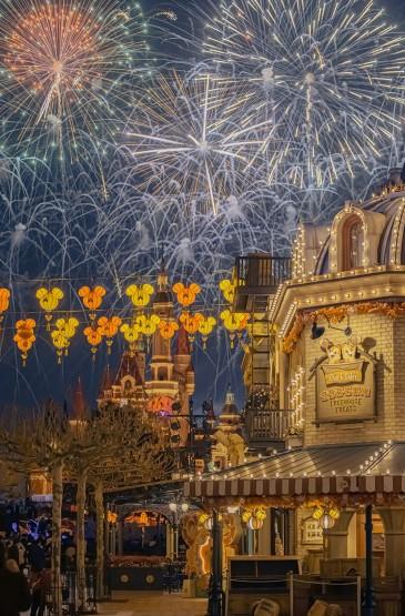 迪士尼新年特别版烟花