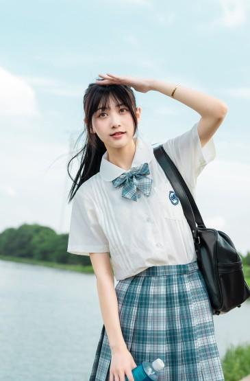 日系jk少女清纯甜美写真