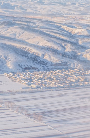 迷人的白雪冬景