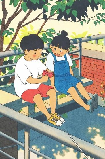 童年的盛夏可爱插画