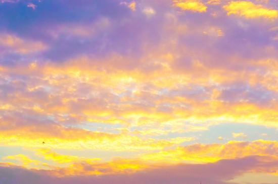 梦幻唯美的彩云风光