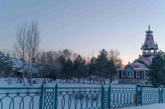 童话般冬日迷人雪景