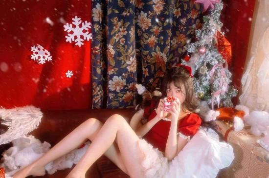 邻家少女圣诞唯美诱人写真