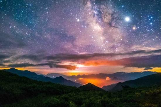 神农架夜晚星空美景