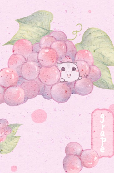 手绘少女风可爱水果