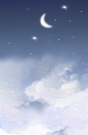 唯美星云手绘油画
