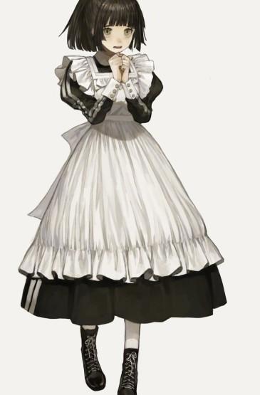 可爱动漫女仆女生头像