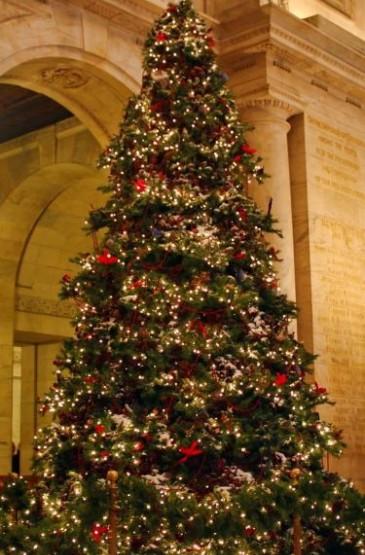唯美浪漫圣诞树装饰