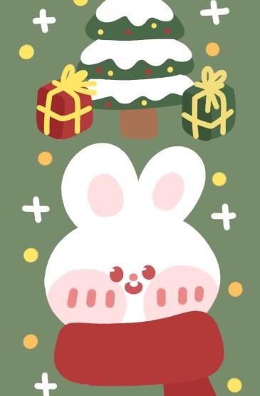 圣诞节卡通可爱配图