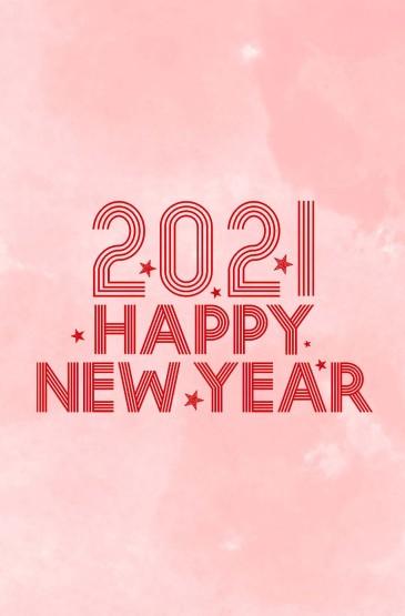 2021简约创意数字新年快