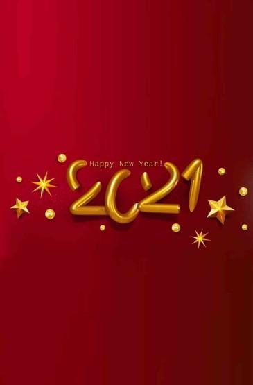 2021年新年快乐英文唯美背景图