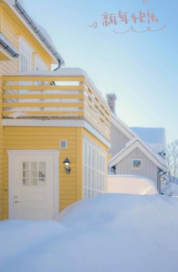新年快乐治愈雪景
